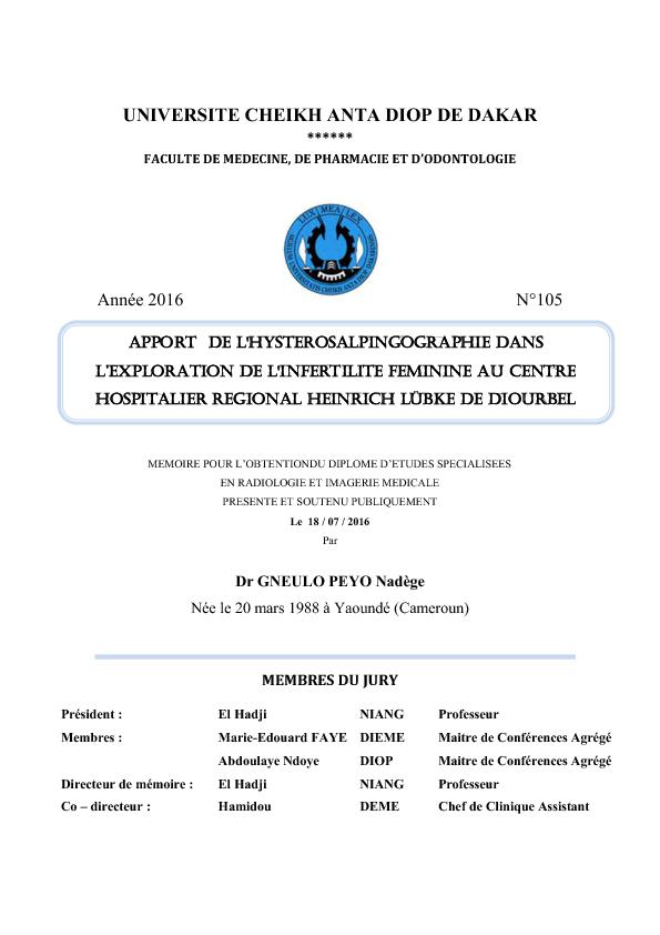 infertilité féminine pdf